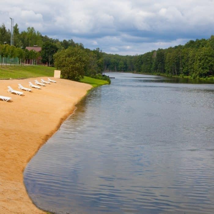 Озеро в загородном отеле ГРУМАНТ Resort & SPA, недалеко от Москвы, Тула, д. Грумант