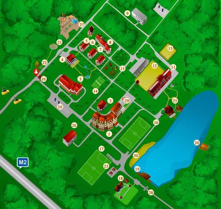Карта территории отеля ГРУМАНТ Resort & SPA