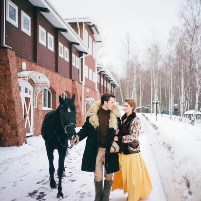 Прогулка с лошадью в загородном отеле ГРУМАНТ Resort & SPA, недалеко от Москвы, Тула, д. Грумант