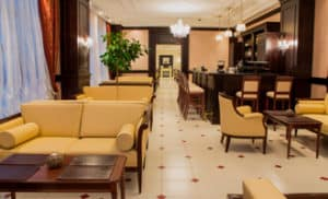 Лобби-бар в загородном отеле ГРУМАНТ Resort & SPA, недалеко от Москвы, Тула, д. Грумант