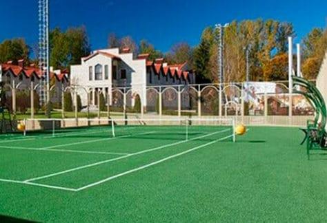 Тенисный корт в загородном отеле ГРУМАНТ Resort & SPA, недалеко от Москвы, Тула, д. Грумант